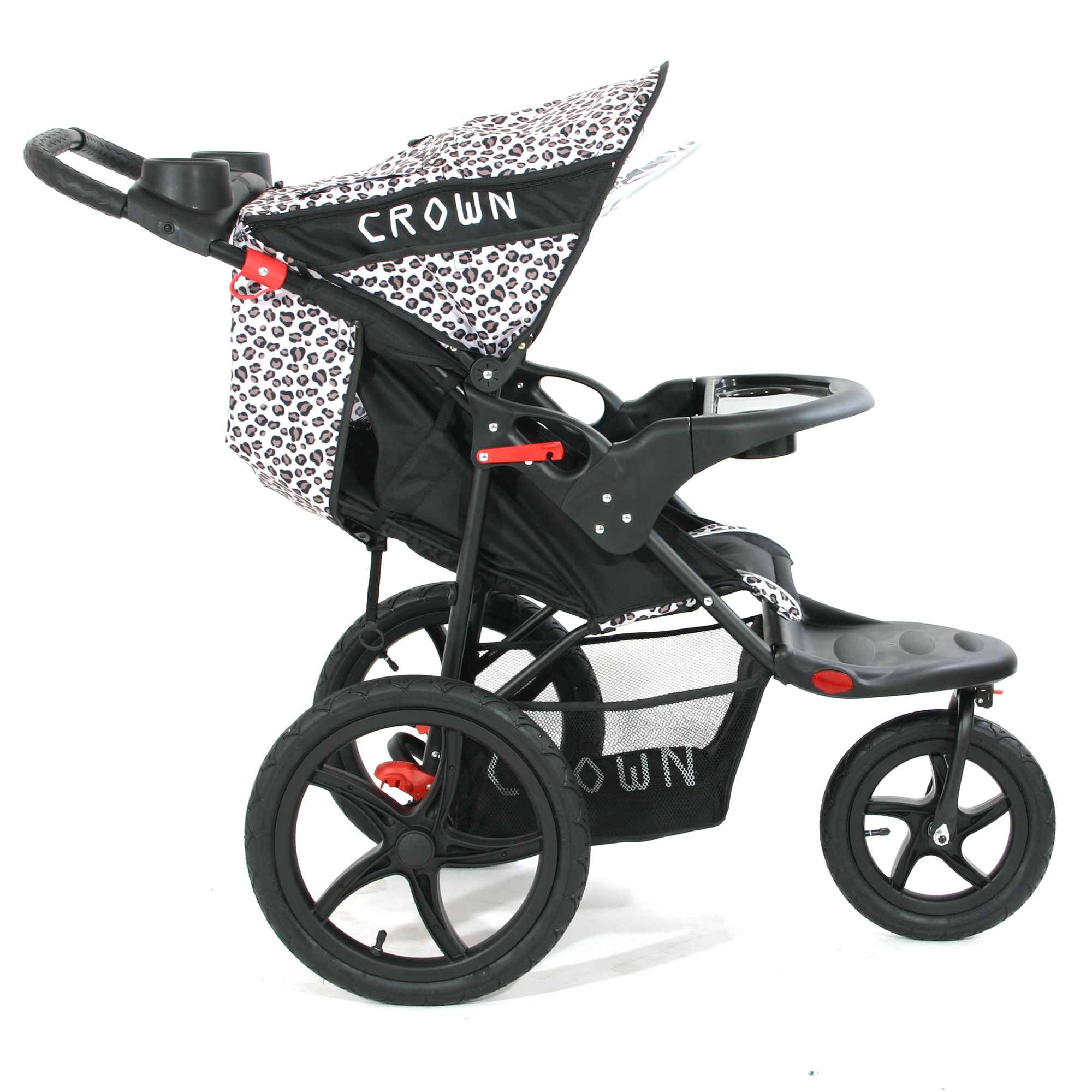 crown st930 16 zoll kinderwagen jogger leopard. Black Bedroom Furniture Sets. Home Design Ideas